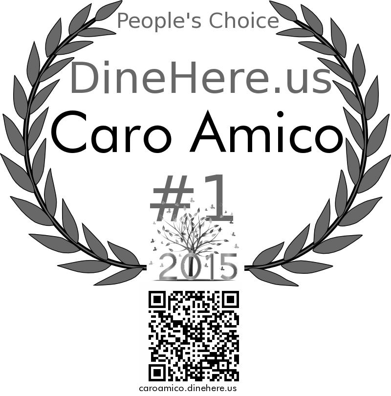Caro Amico DineHere.us 2015 Award Winner