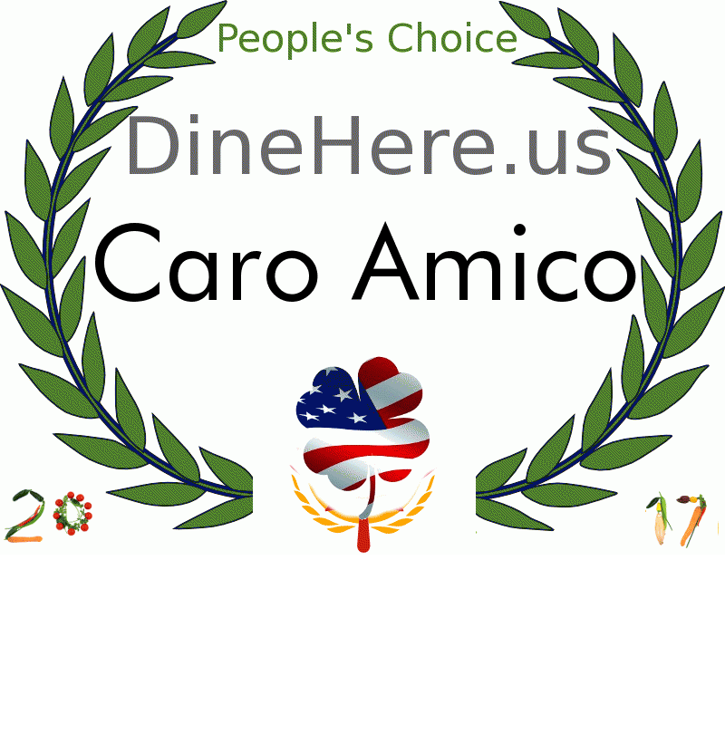 Caro Amico DineHere.us 2017 Award Winner
